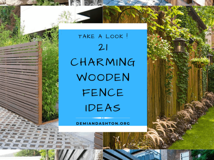 Charming Wooden Fence Ideas