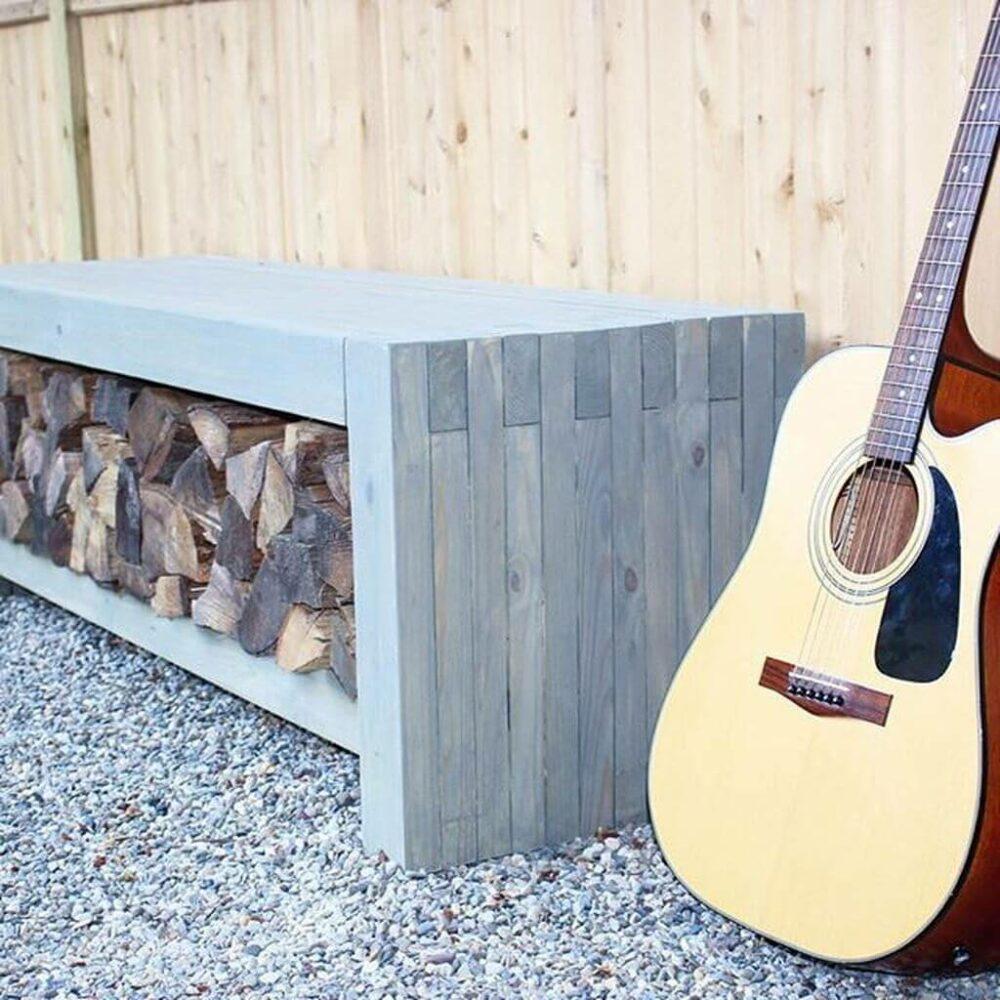 Firewood Storage Bench