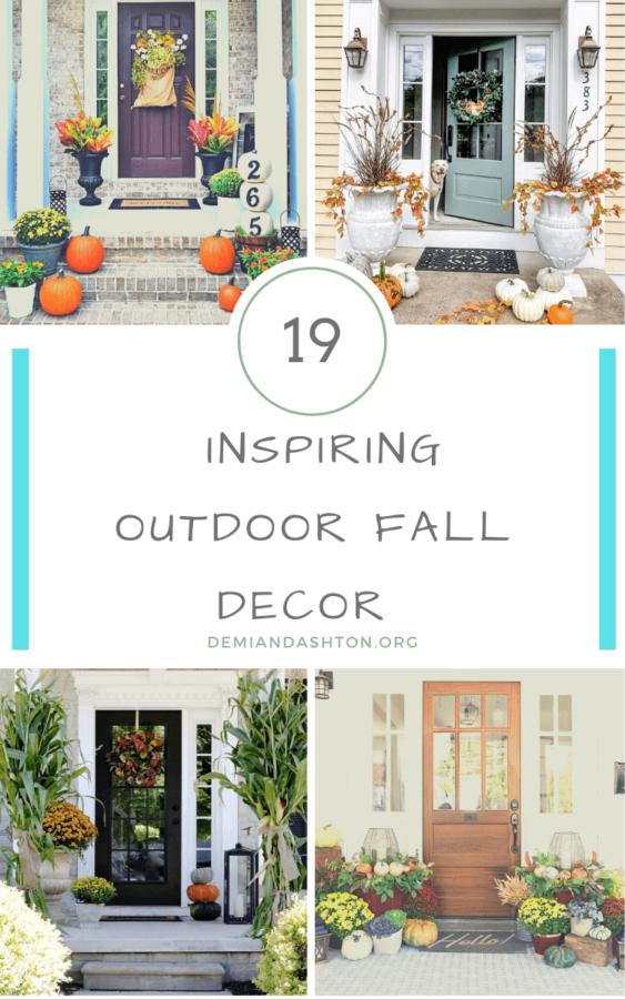 Inspiring Outdoor Fall Decor