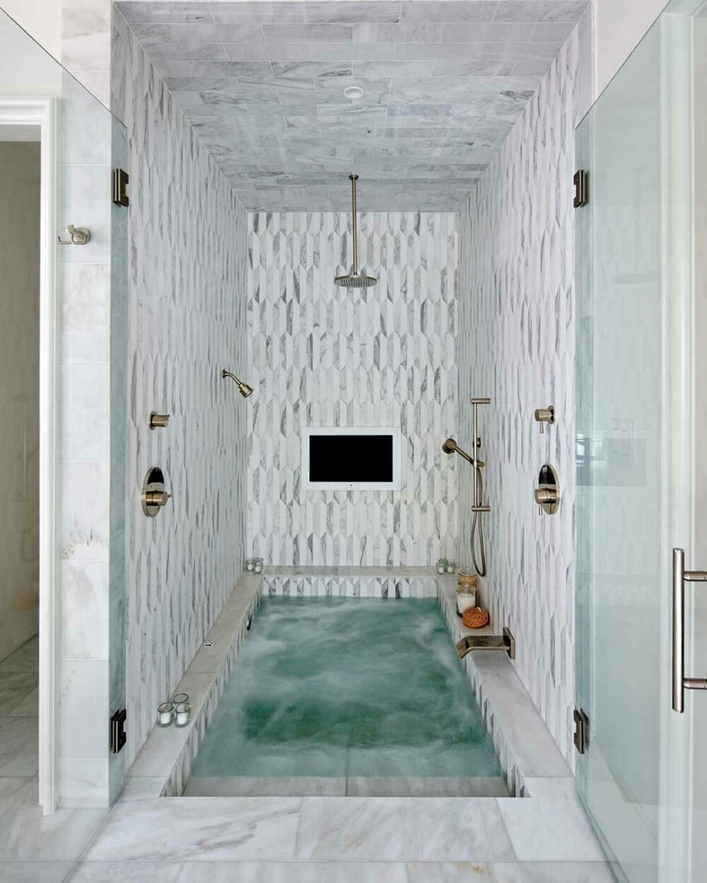 bathroom ideas with tub and shower