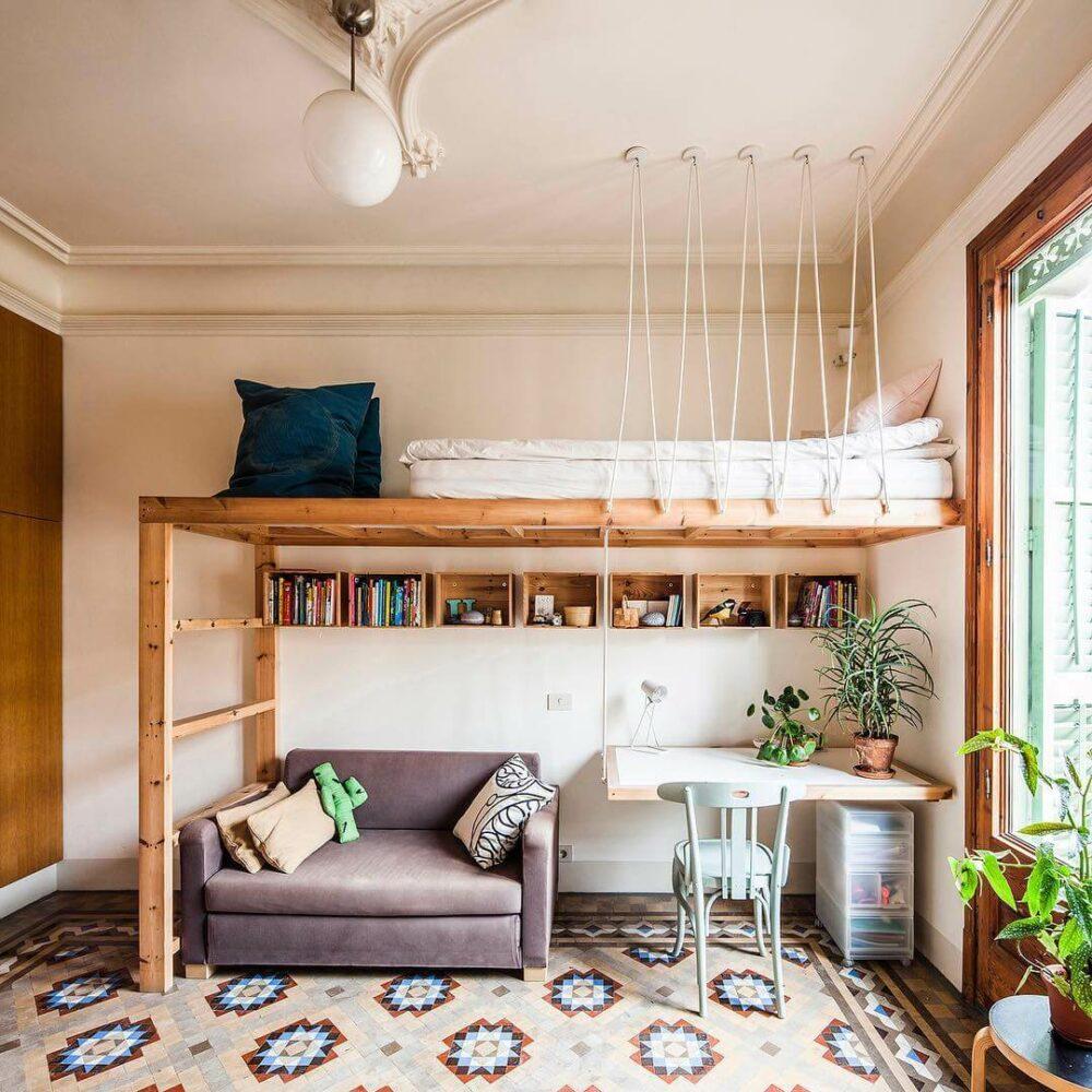 college dorm loft bed ideas