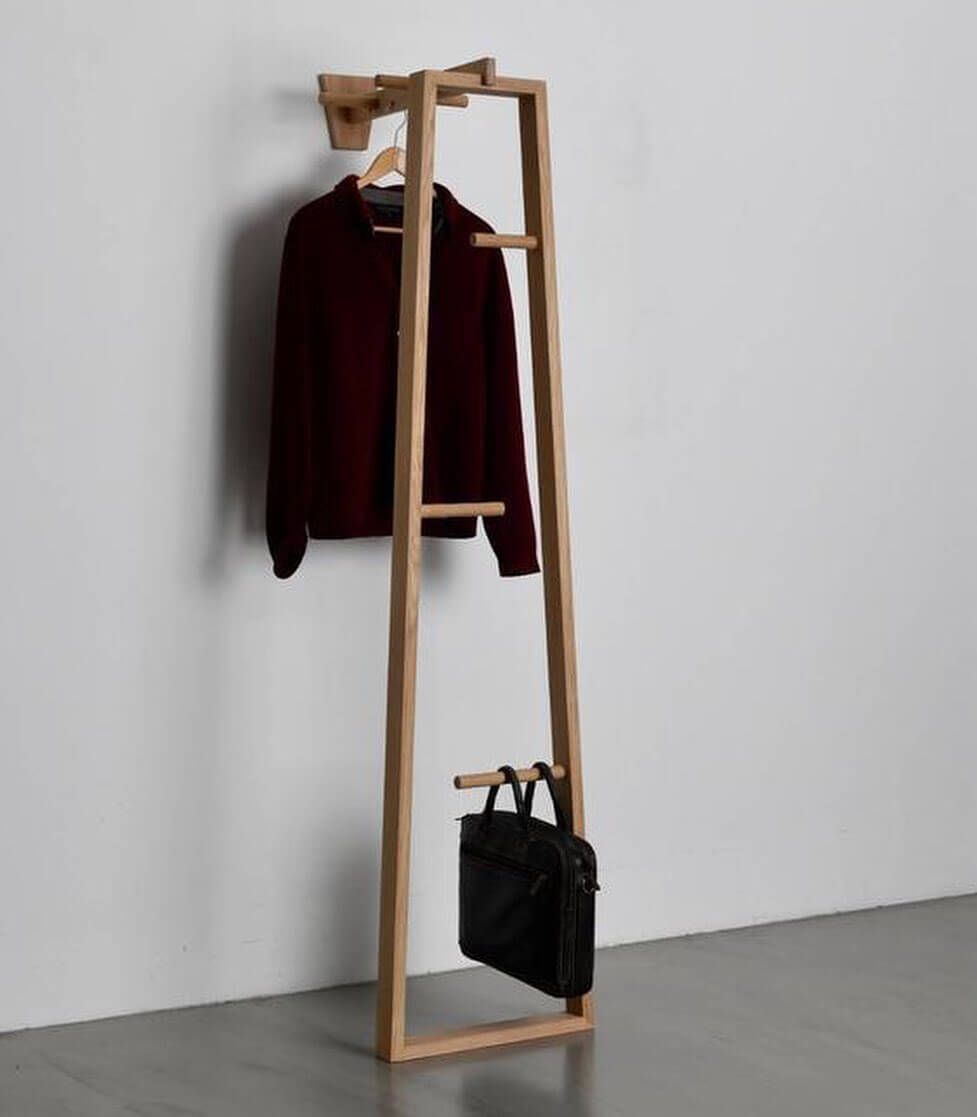 diy standing coat rack ideas
