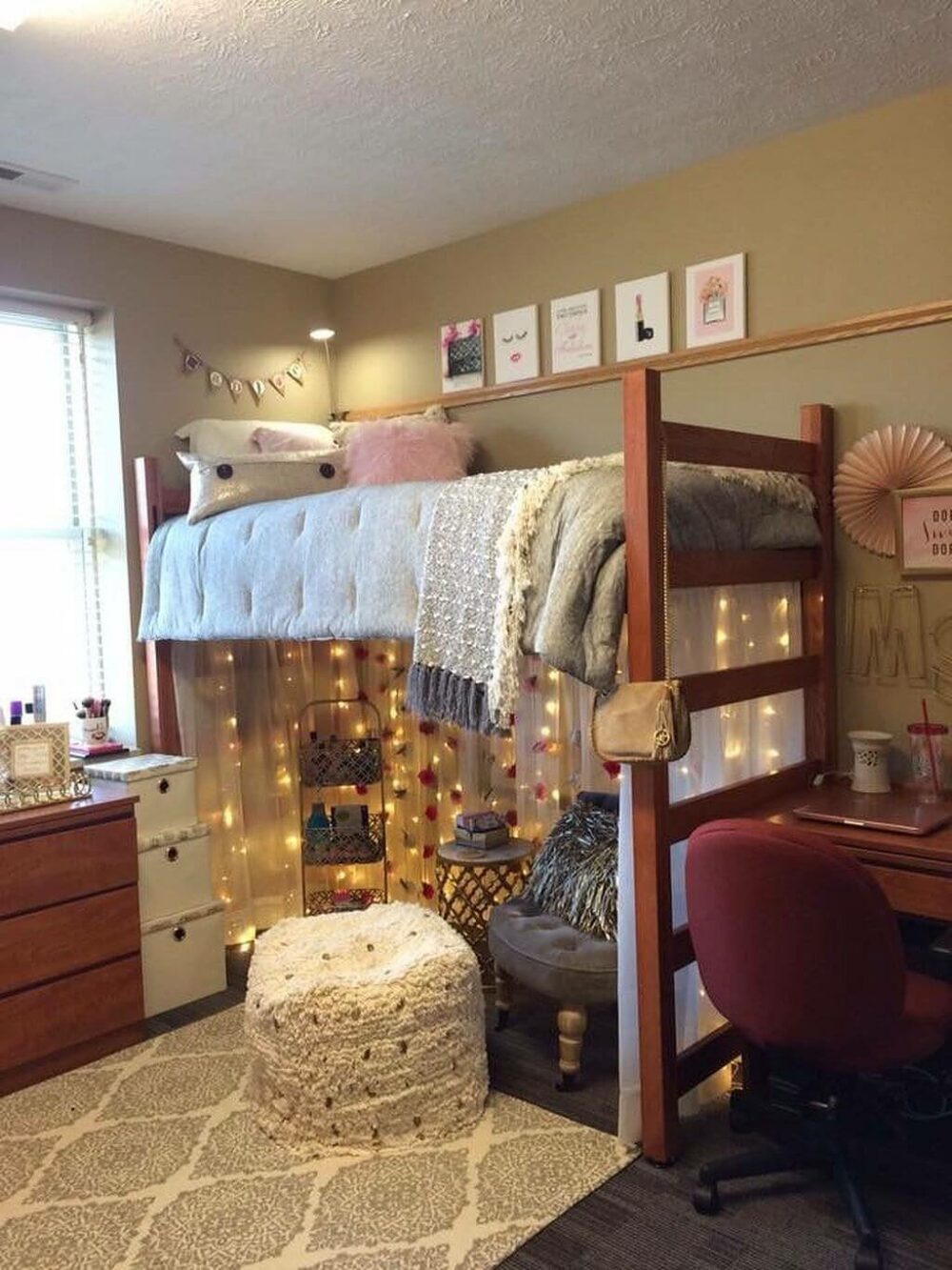 dorm room ideas bunk beds