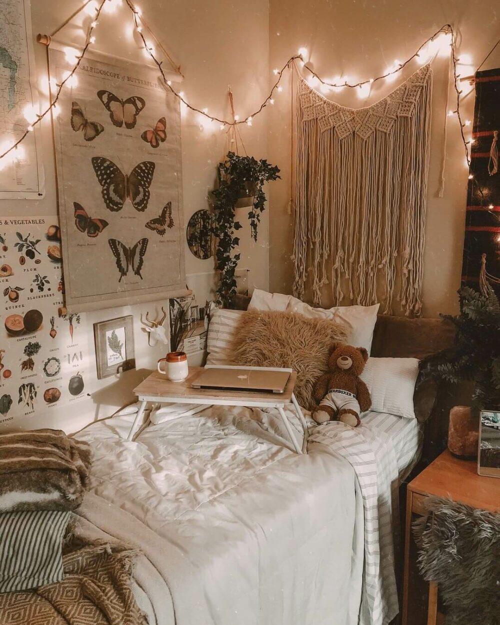 dorm room ideas lights
