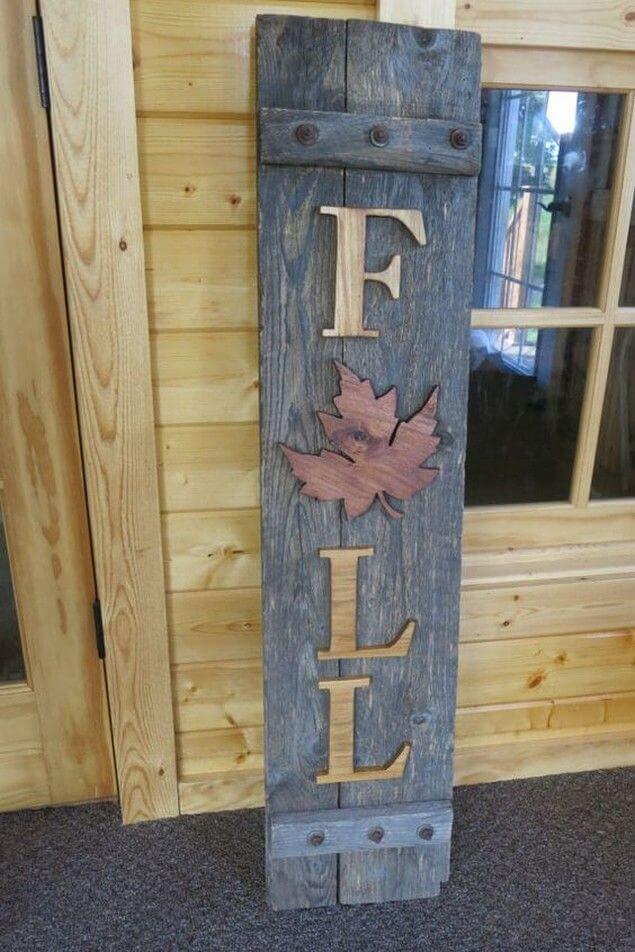 fall wooden sign ideas