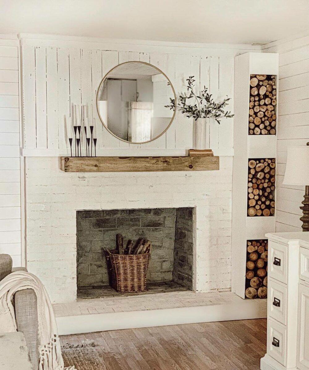 firewood storage cabinet