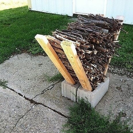 firewood storage outside