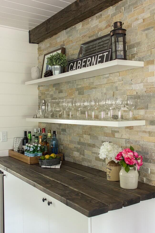 kitchen bar wall ideas