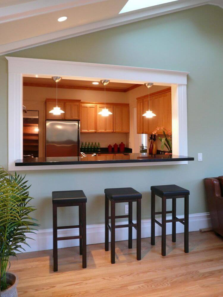 kitchen with bar ideas