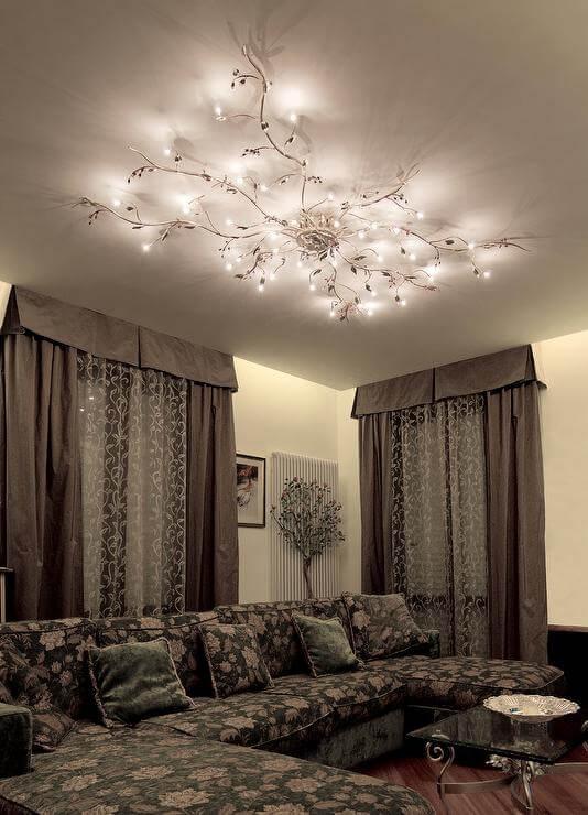 living room lighting ideas high ceiling