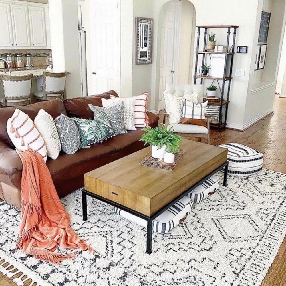 living room rug size ideas