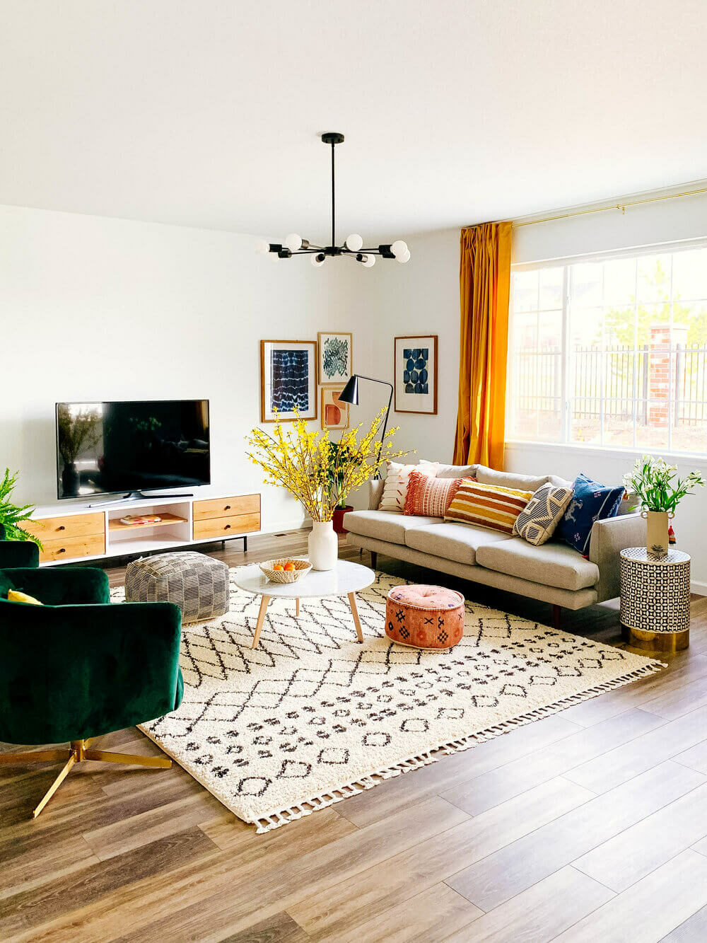 living room with rug ideas