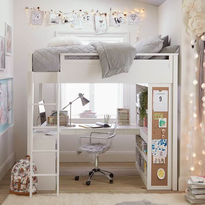 loft bed ideas with desk