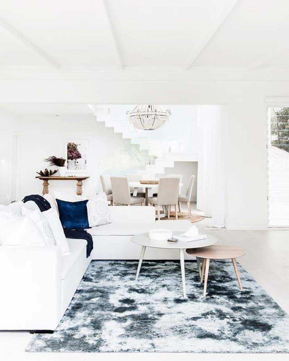 navy blue rug living room ideas