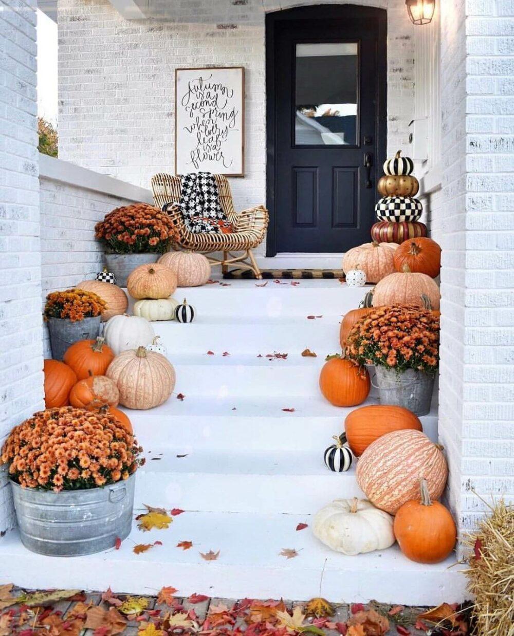 outdoor fall decor pinterest
