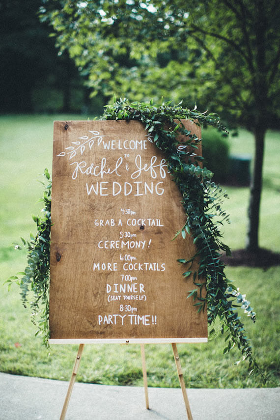outdoor wood sign ideas