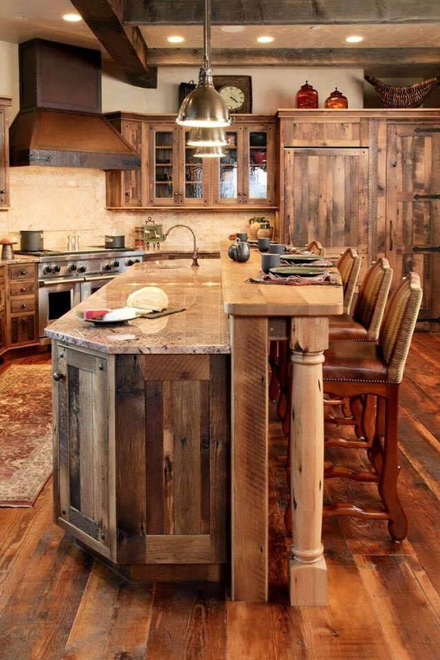 rustic kitchen bar ideas