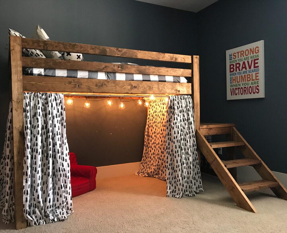 small room loft bed ideas