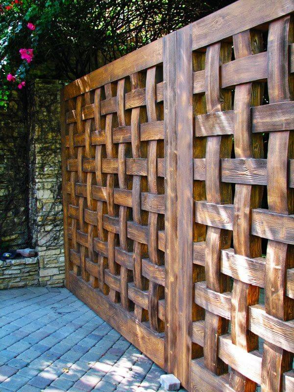 small wooden fence ideas
