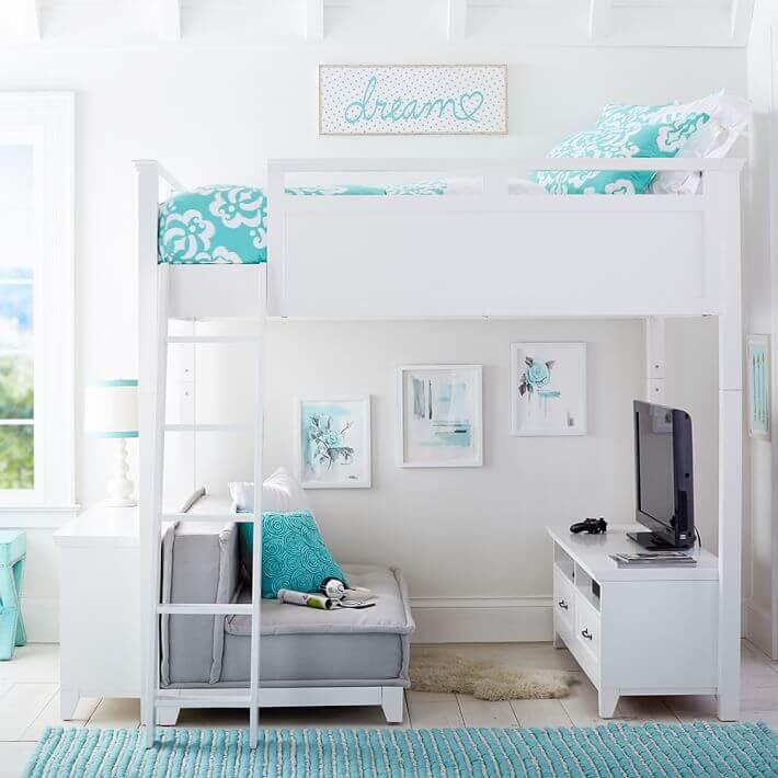 studio apartment loft bed ideas