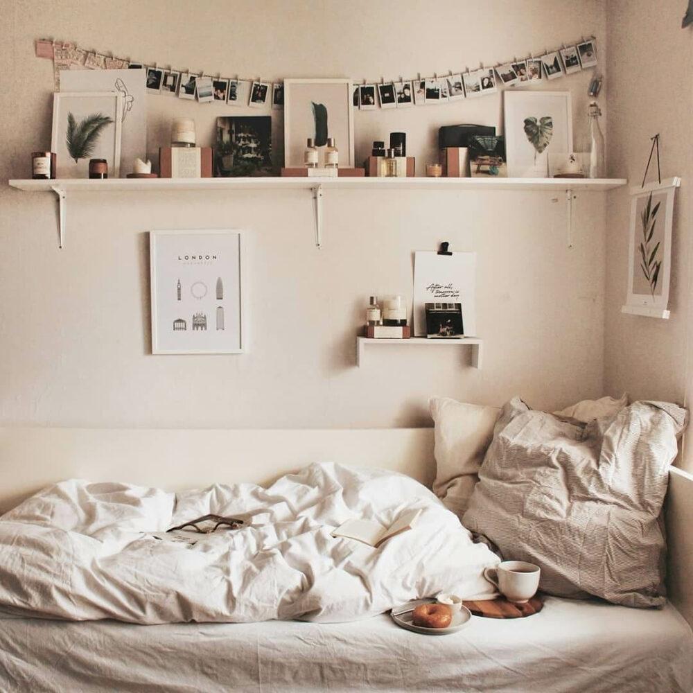 white dorm room ideas