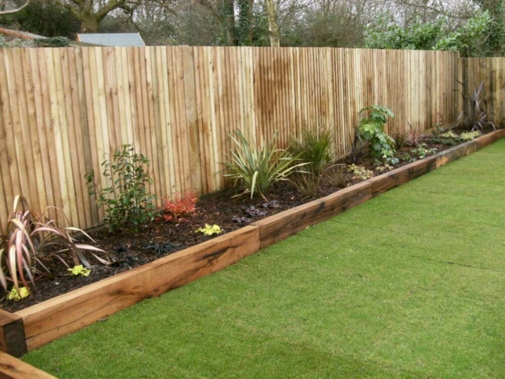 wood fence landscaping ideas