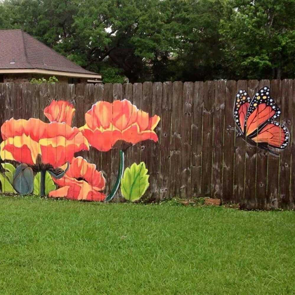wood fence paint ideas