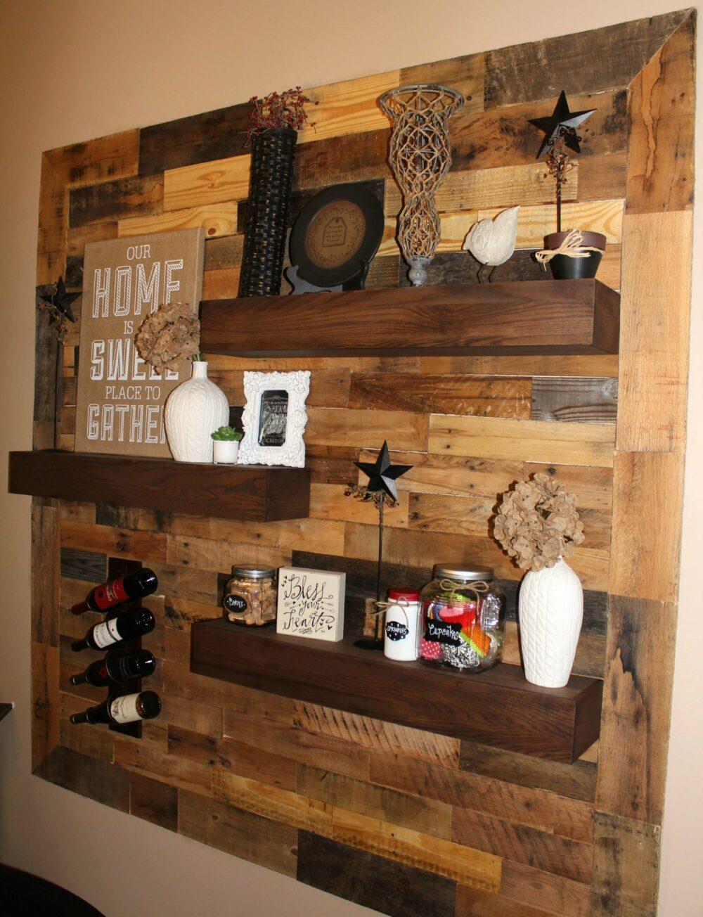 wood pallet shelf ideas