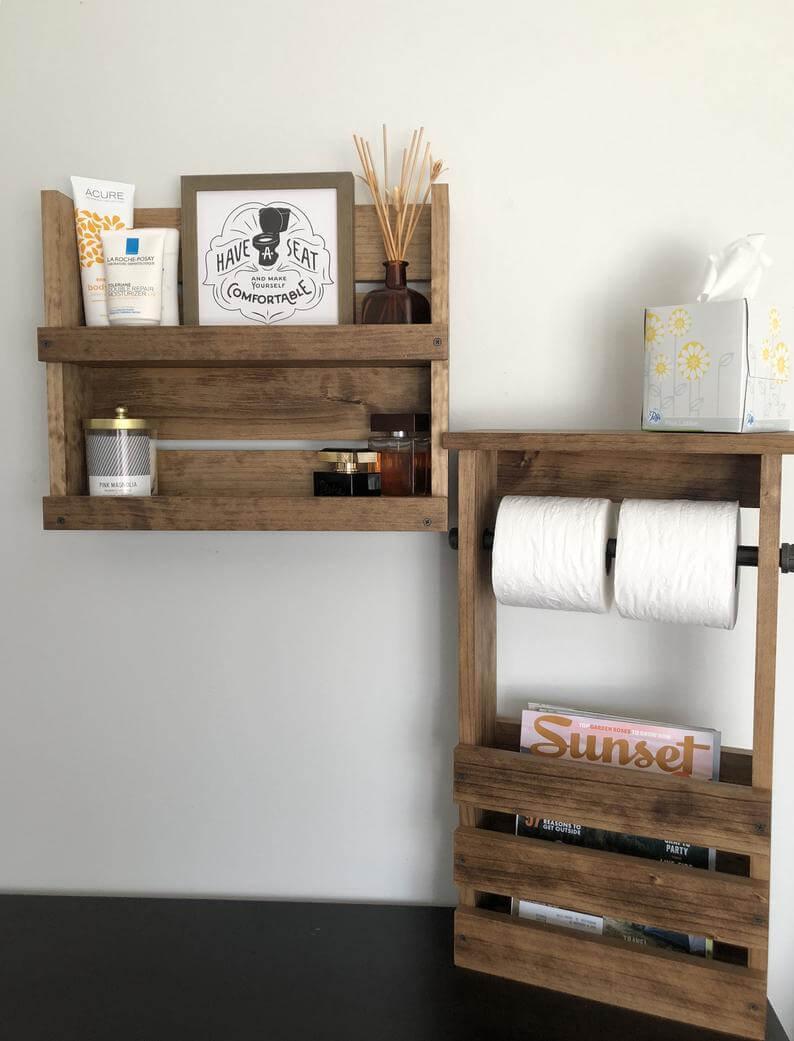 wood pallet shelves ideas