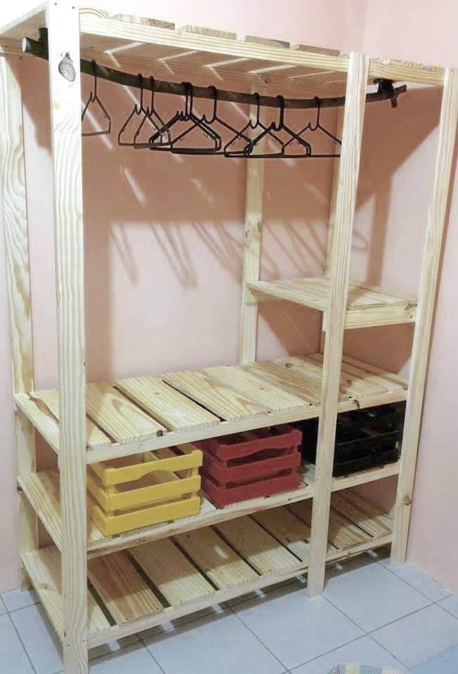 wood pallet storage ideas