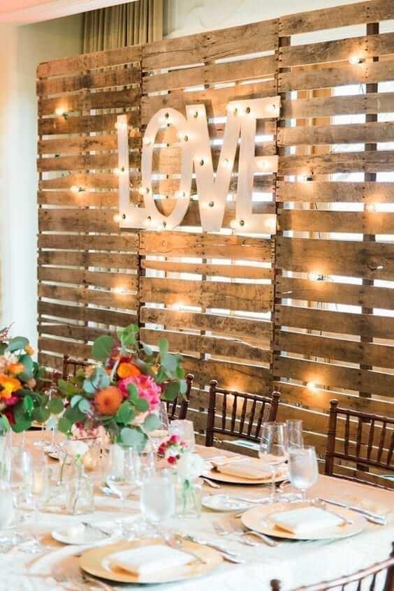 wood pallet wedding ideas