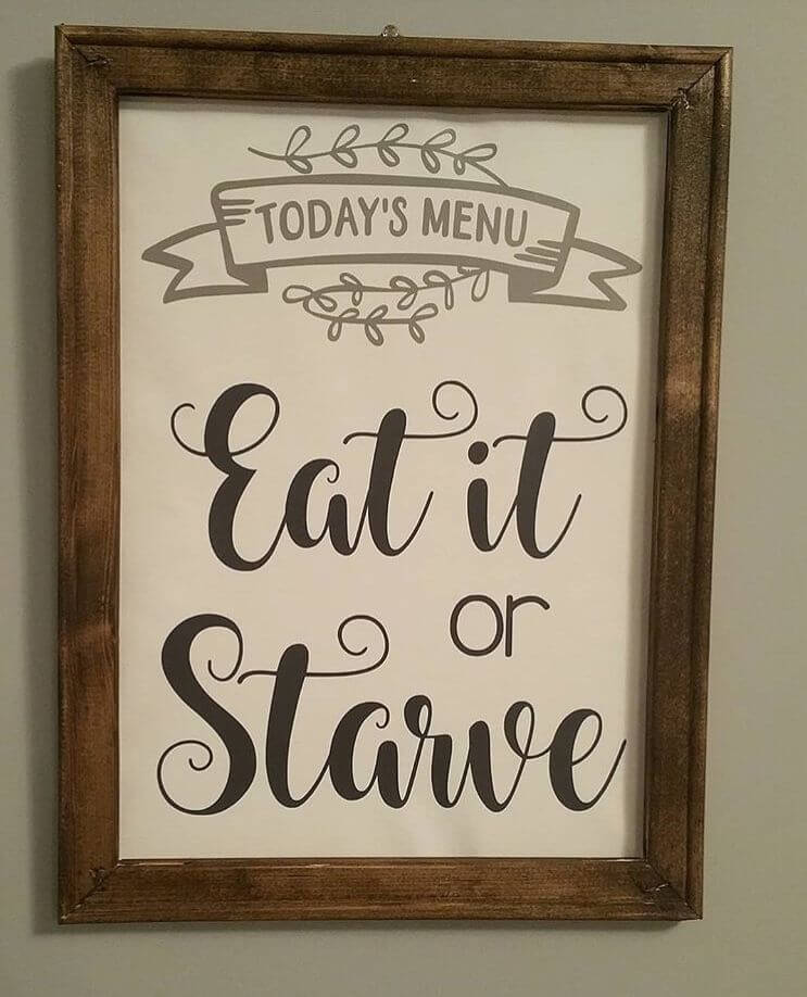 wood sign ideas for kitchen