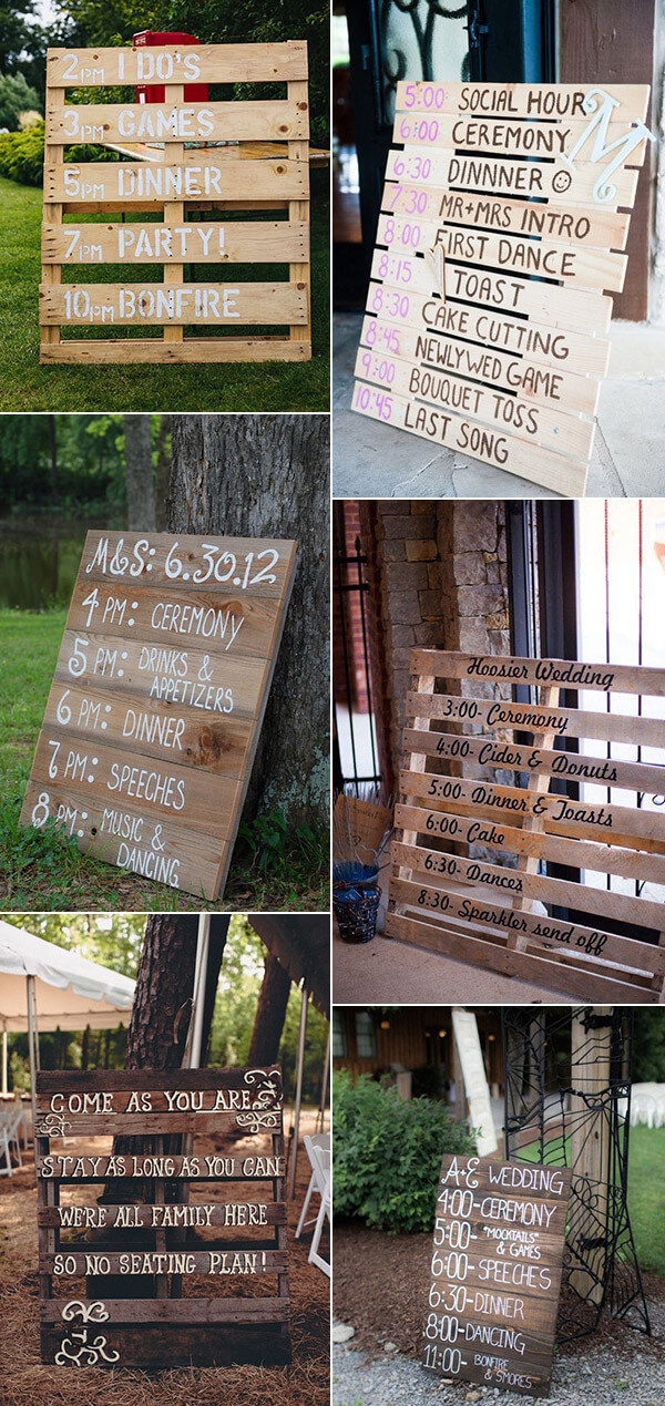 wood sign ideas for weddings