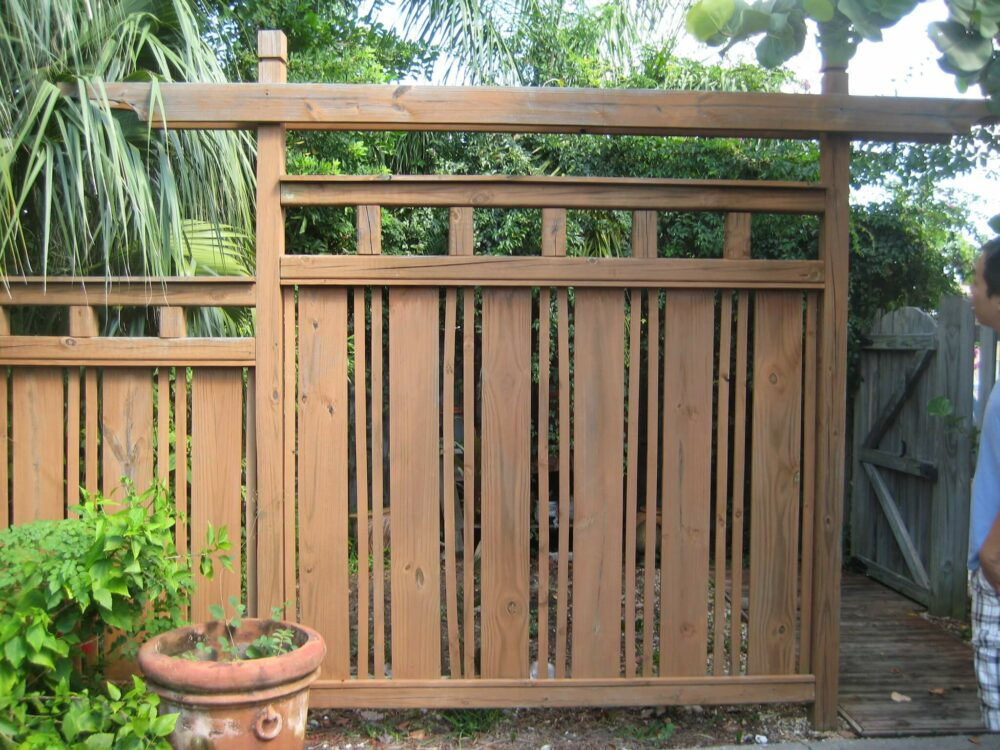 wooden fence gate ideas