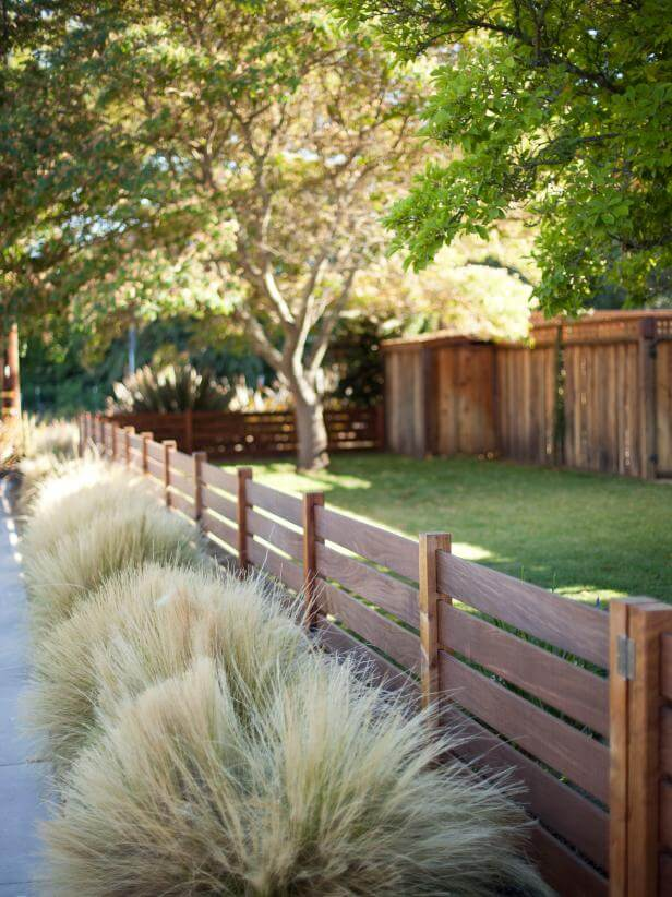 wooden fence ideas for front yard