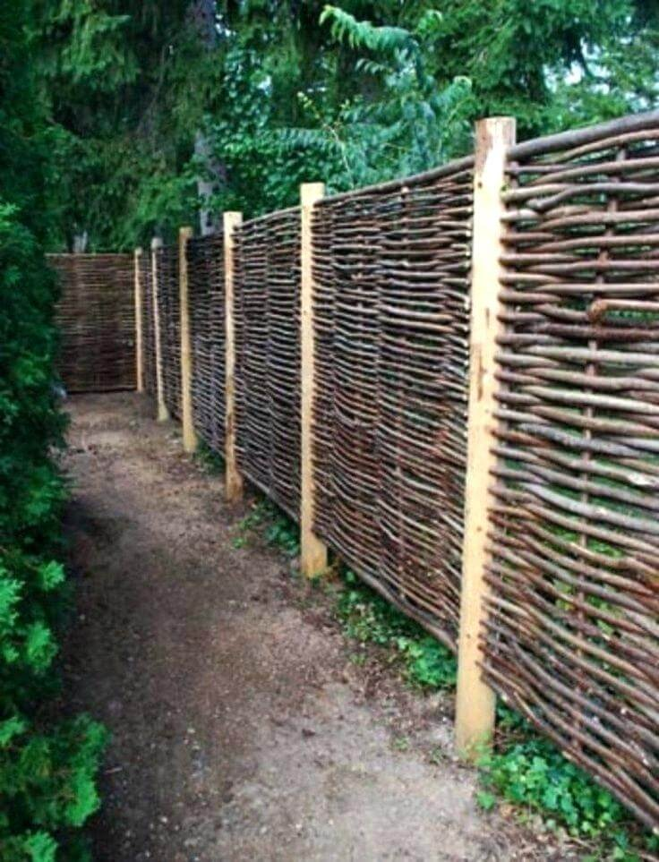 wooden yard fence ideas