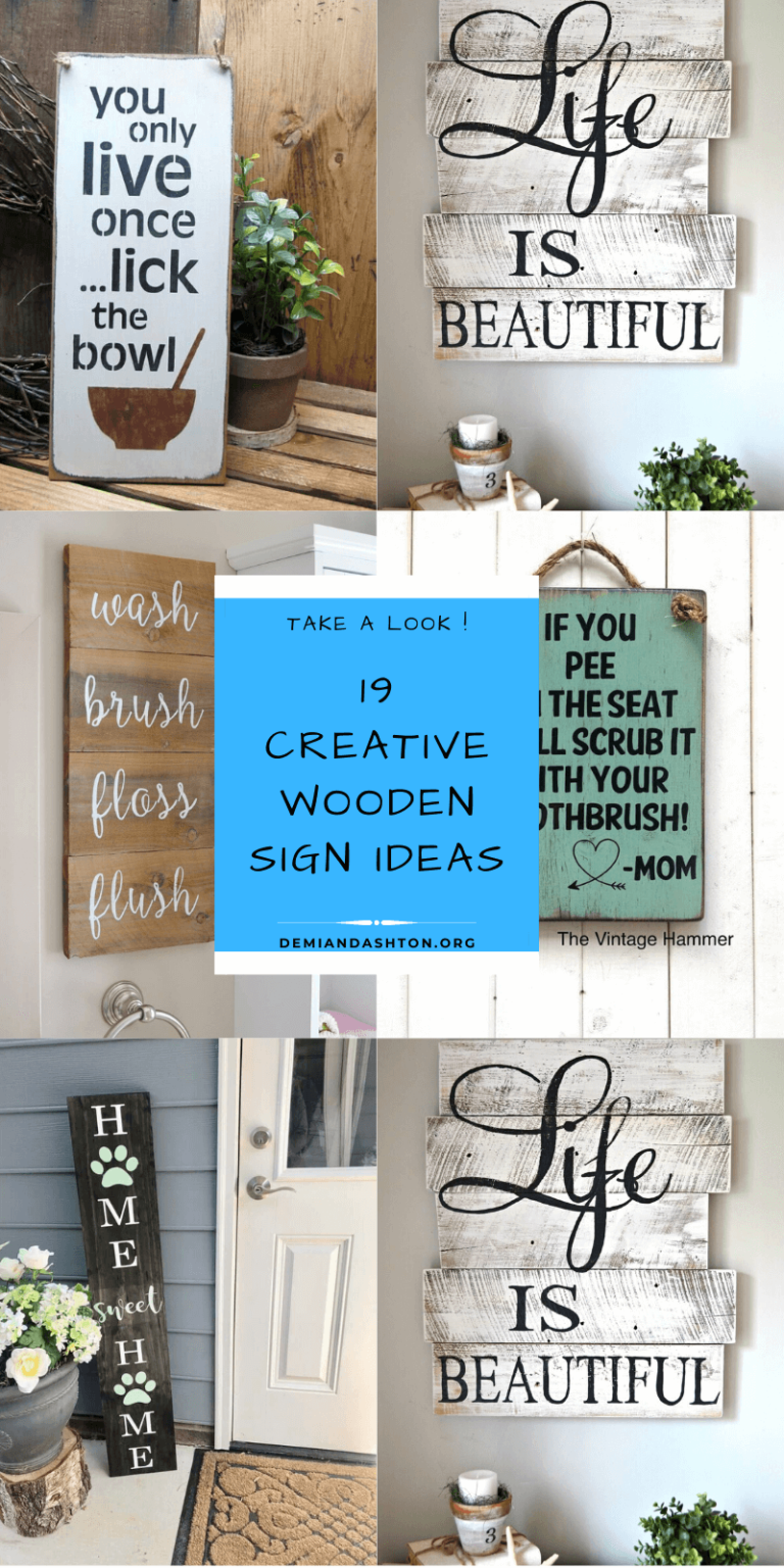 Creative Wooden Sign Ideas