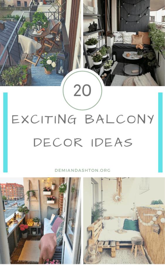 Exciting Balcony Decor Ideas