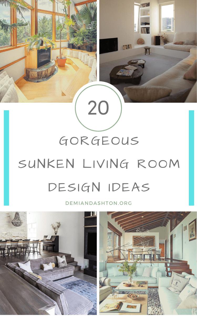 Gorgeous Sunken Living Room Ideas