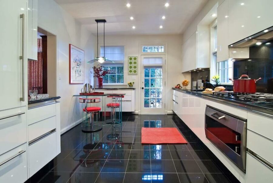 dark floor kitchen ideas