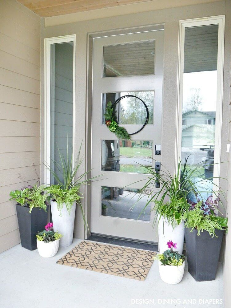 flower pot ideas for front door