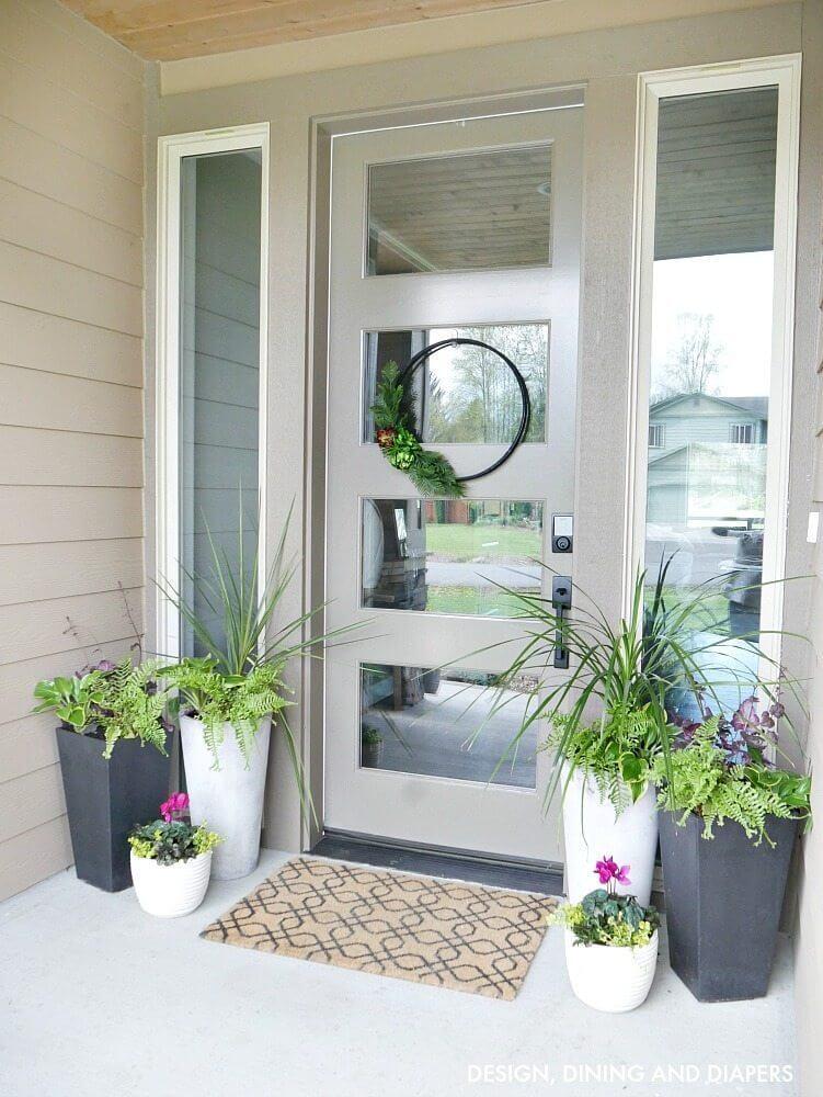 flower pot ideas for front door