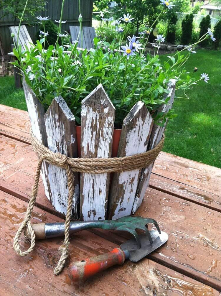 rustic flower pot ideas