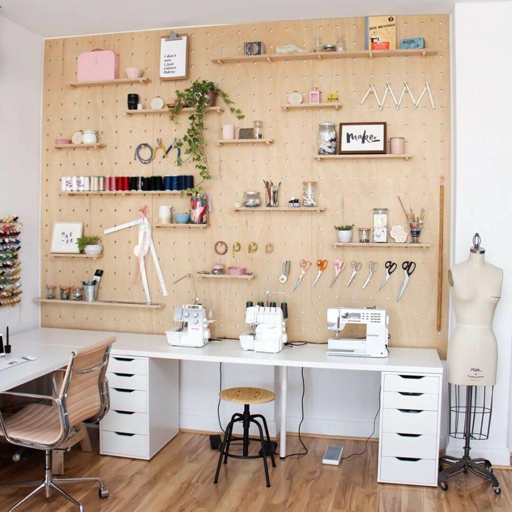 sewing room setup ideas