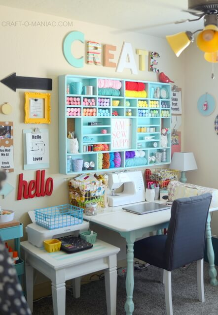 sewing room shelving ideas