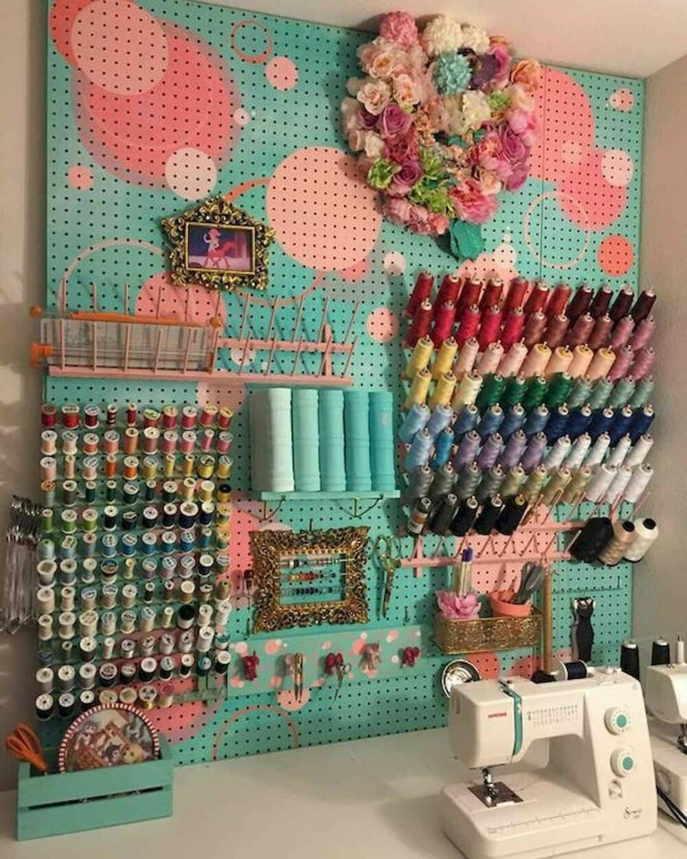 sewing room wall decor ideas