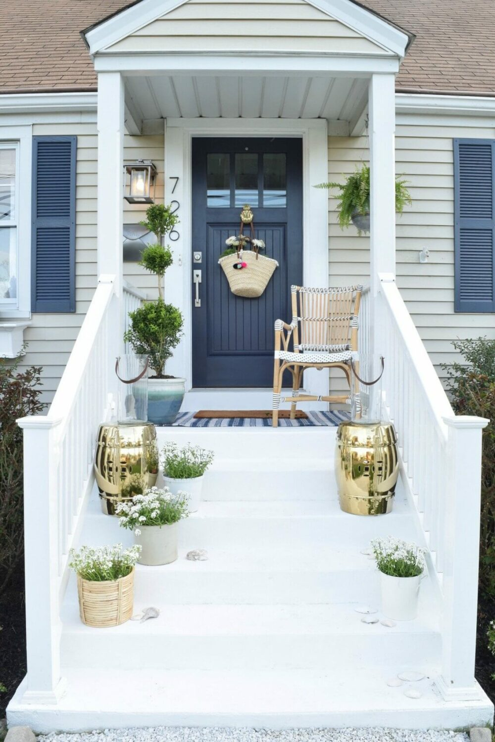 split level curb appeal ideas