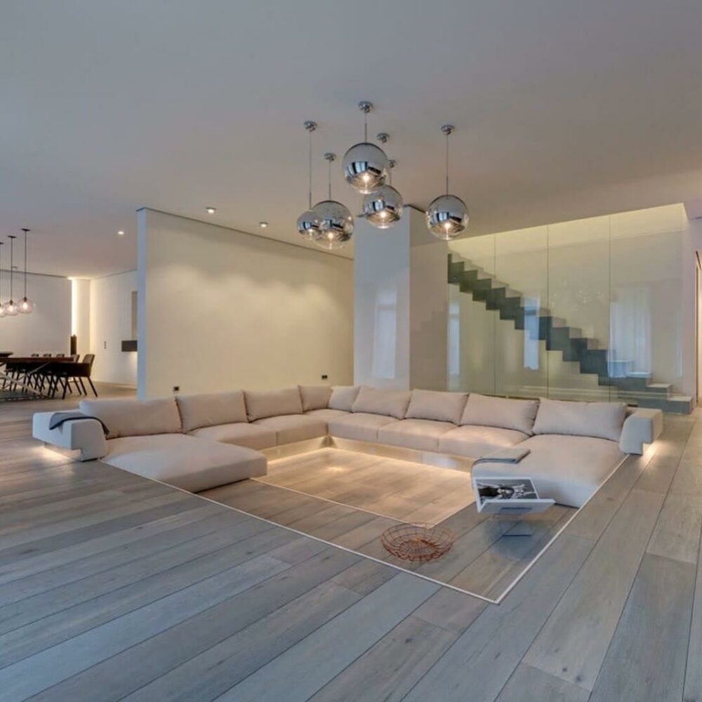 sunken living room