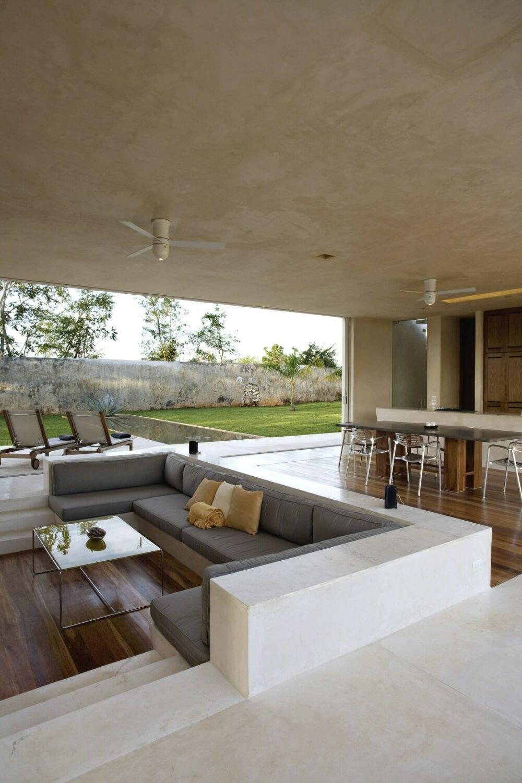 sunken living room design