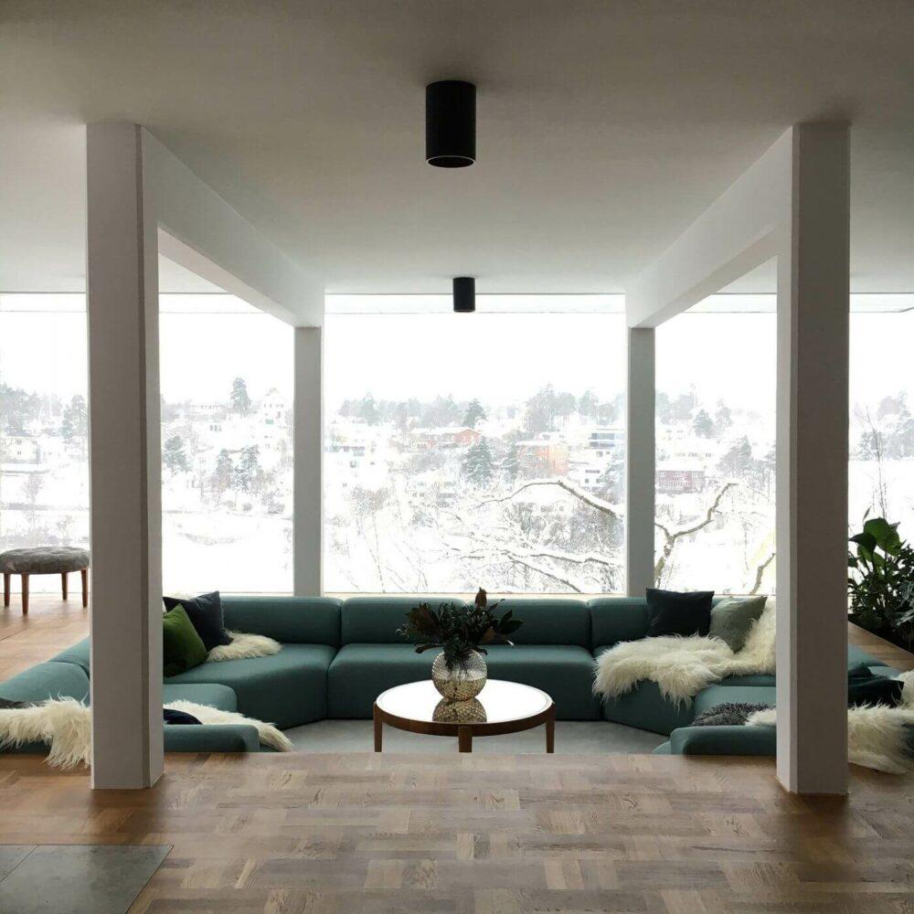 sunken living room remodel
